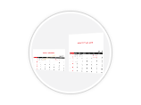 CUSTOM SIZE TABLE CALENDAR TEMPLATE