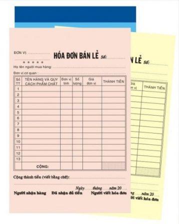 In hóa đơn A4 chất lượng, giá rẻ tại quận Gò Vấp