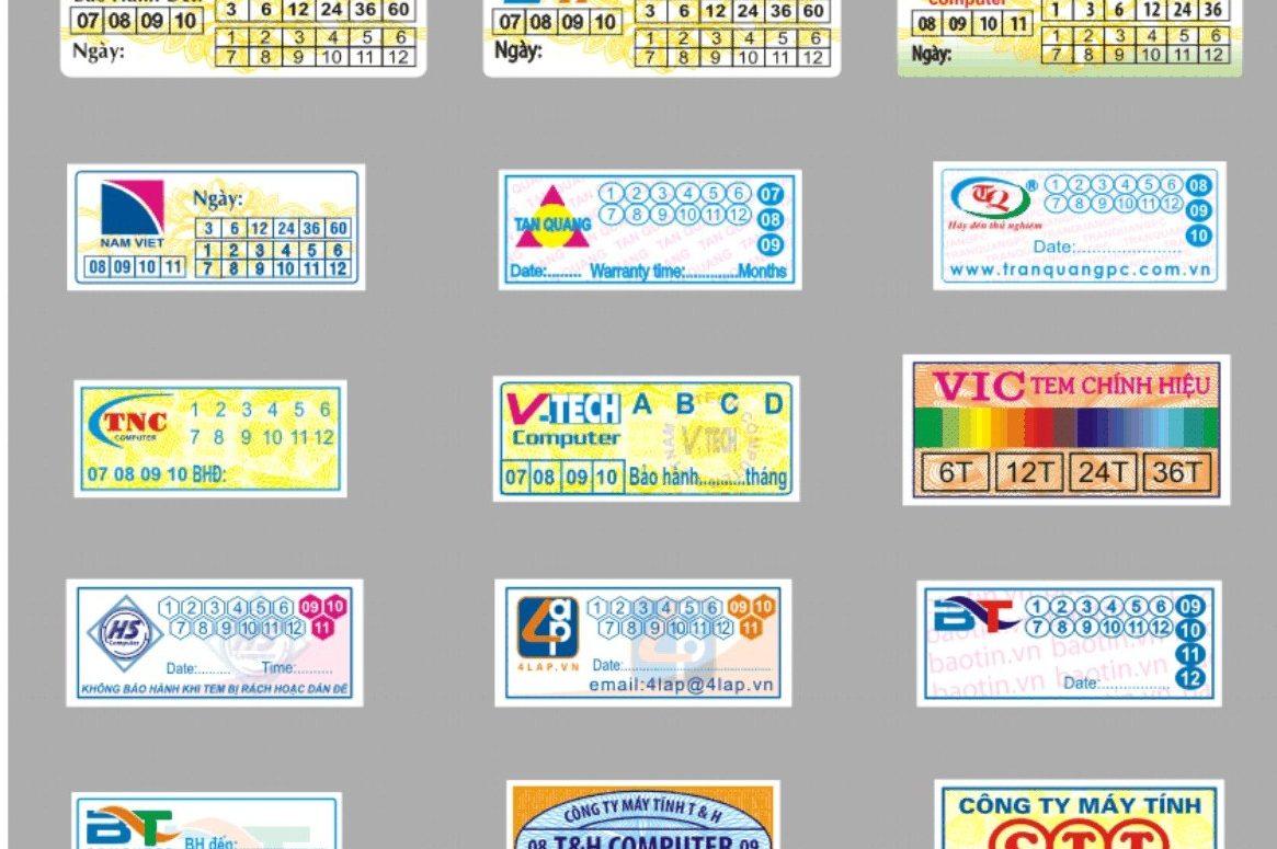 In tem bảo hành chất lượng cao tại quận 12