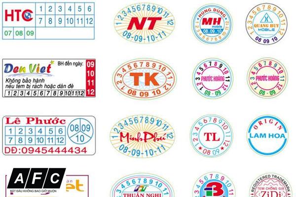 In tem bảo hành chất lượng cao tại quận Bình Thạnh