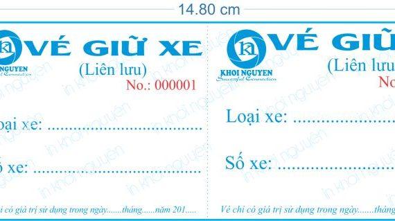Dịch vụ in vé giữ xe chất lượng tốt, giá rẻ tại Gò Vấp
