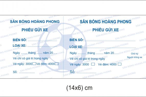 Dịch vụ in vé giữ xe chất lượng tốt, giá rẻ tại Bình Tân