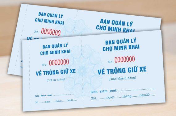 Dịch vụ in vé giữ xe chất lượng tốt, giá rẻ tại Hóc Môn